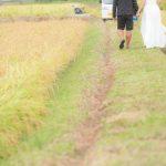 結婚式前撮り    稲刈り プロポーズ第1弾