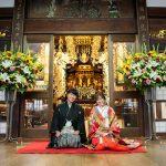 お寺で結婚式前撮り♪